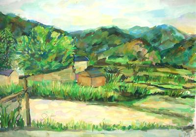 05级艺术设计专业b班皖南风景写生作品集